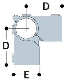 A21/26 - Split Two Socket Cross-1217