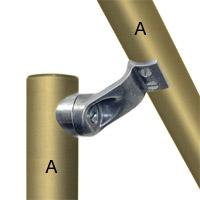 L160-7 - Smooth Handrail Fitting- Dda Compliant, 42.4Mm O/D-3
