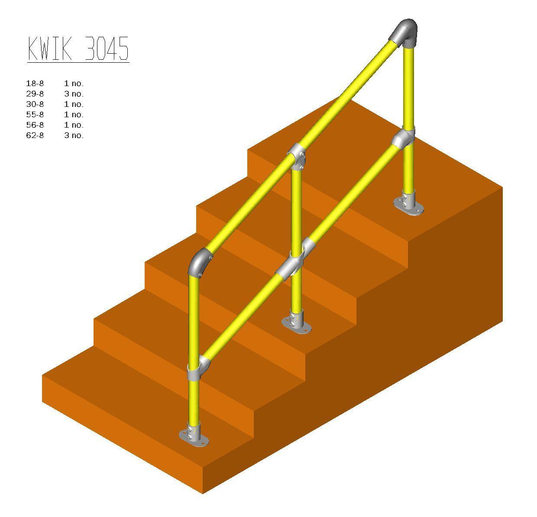Kwik Kit Steel Step Kit 30 – 45˚-0