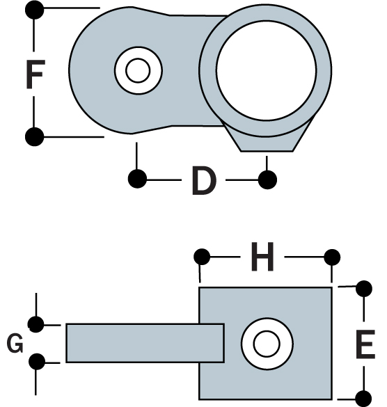 MH50 - Male Single Horizontal Swivel Socket Member-1183