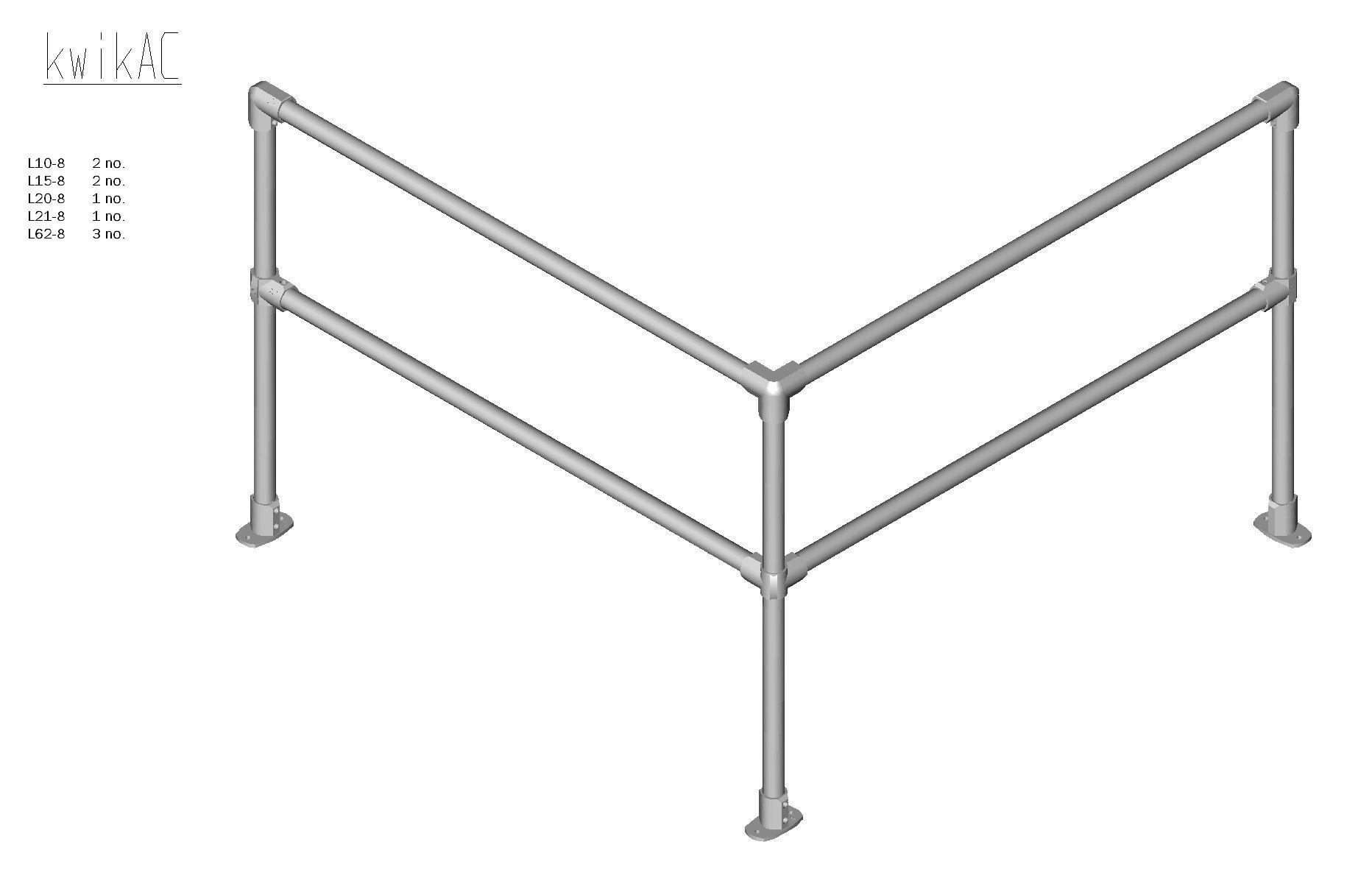 Kwik Kit Aluminium Corner Kit-0