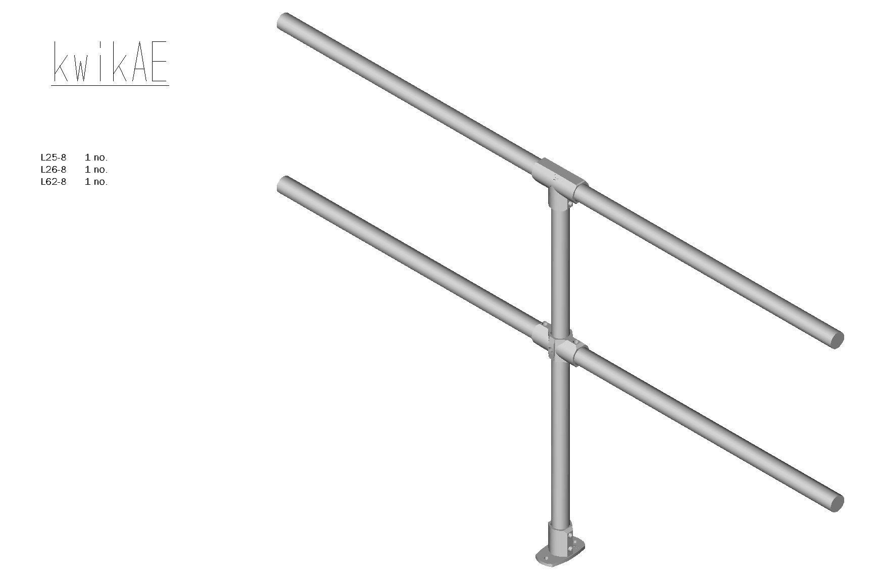 Kwik Kit Aluminium Extension Kit-0