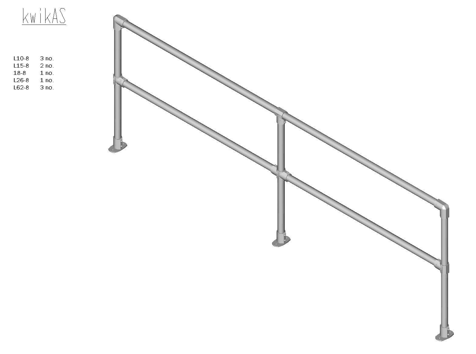 Kwik Kit Aluminium Straight Kit-0