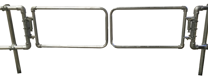 Double Width Safety Gate - Galvanised-1496