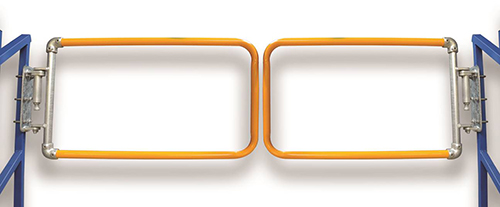 Double self closing gates