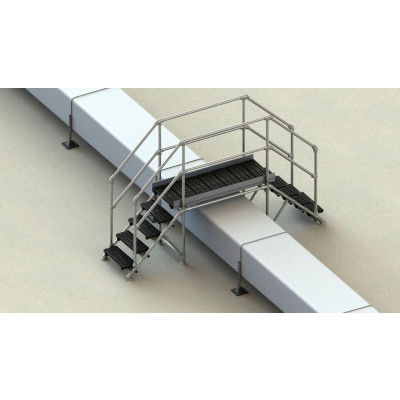 Concrete Roof 800mm Step Over Kit