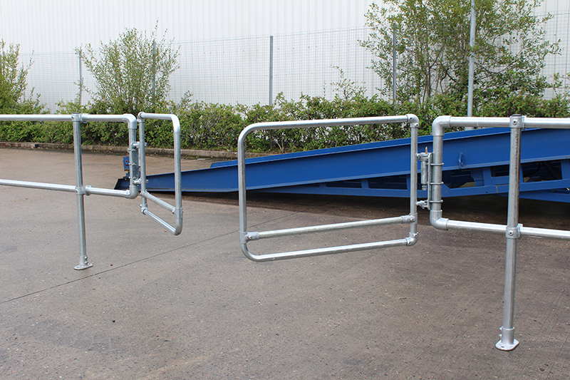 Galvanised Double Width Safety Gate-0