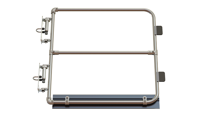 Full height self closing safety gate (galvanised)-1492