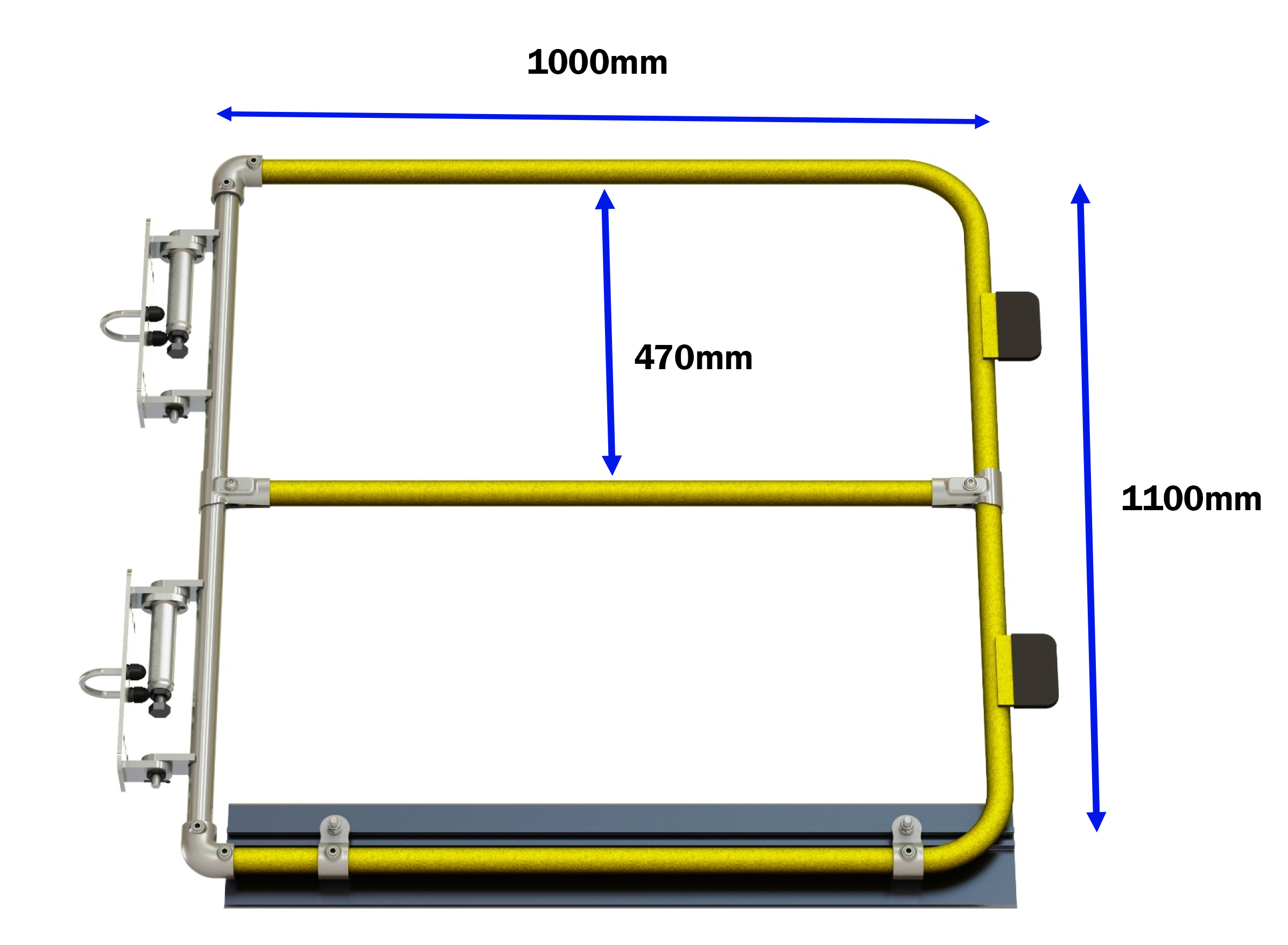 Full height self closing safety gate (powder coated)-1501