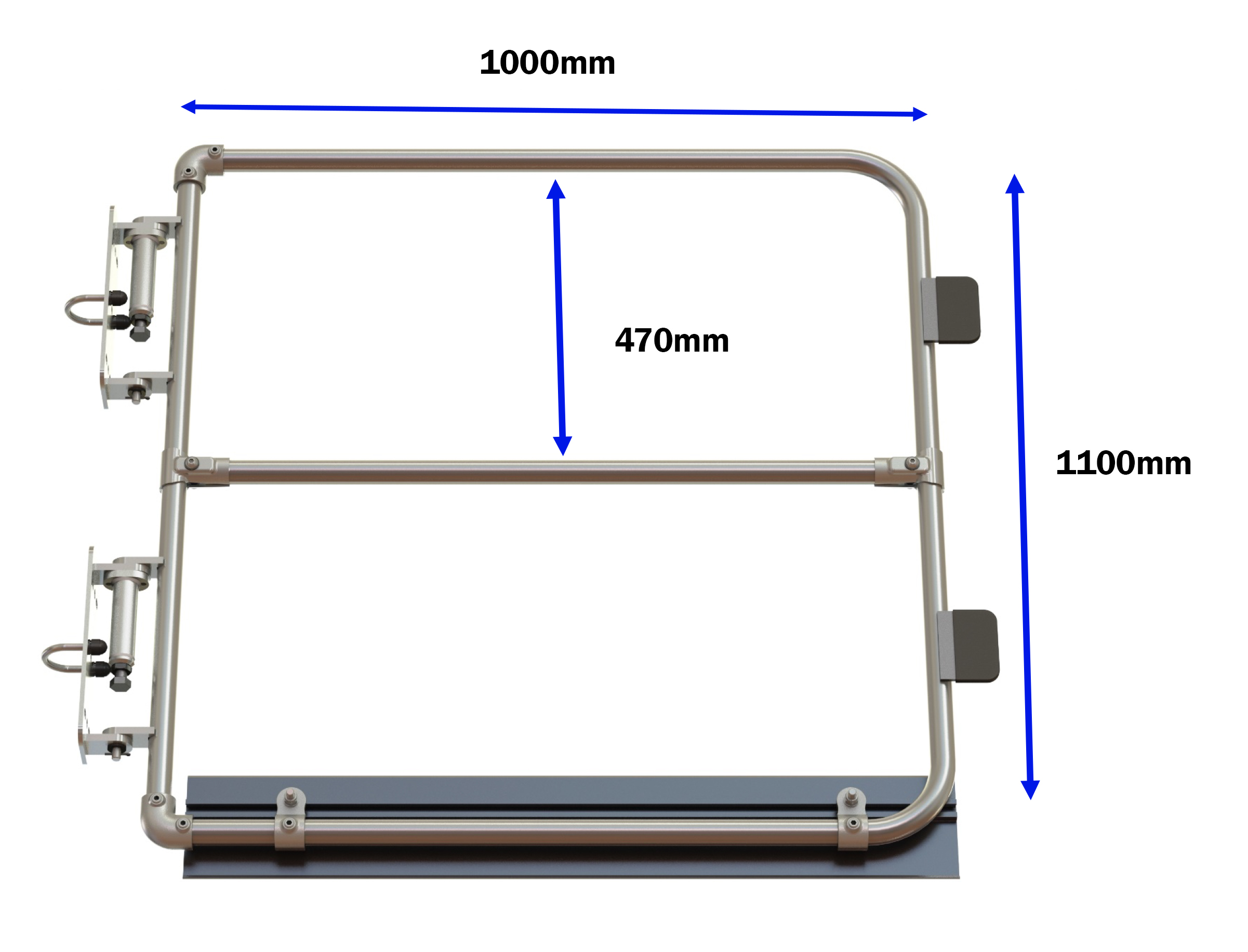 Full height self closing safety gate (galvanised)-1494