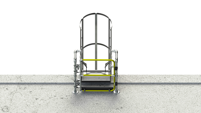 Full height self closing safety gate (galvanised)-0
