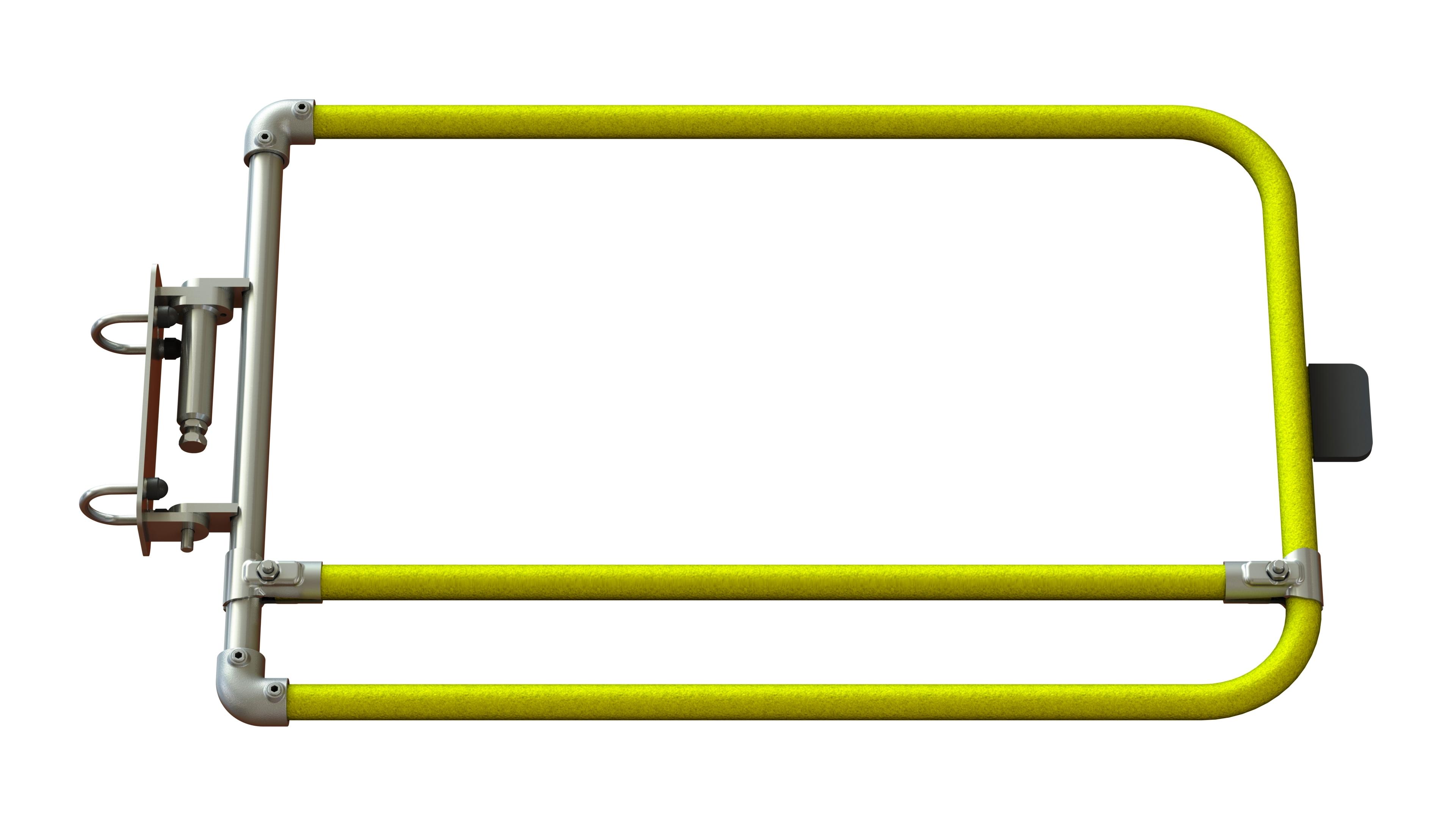 Single width self closing safety gate (powder coated)-1512