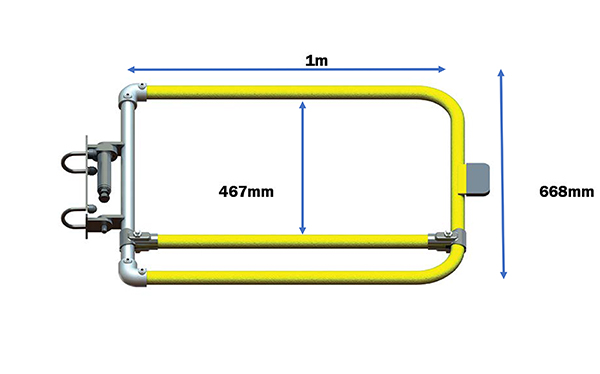 Single width self closing safety gate (galvanised)-0
