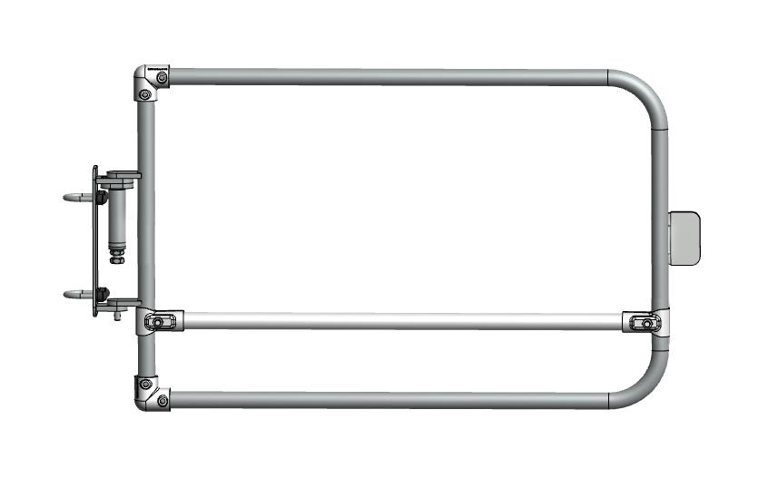 Single width self closing safety gate (galvanised)-1502