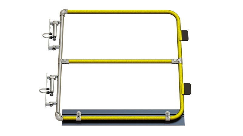 Full height self closing safety gate (powder coated)-1499