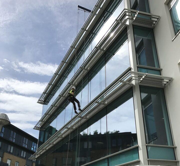 Davit Arm on building