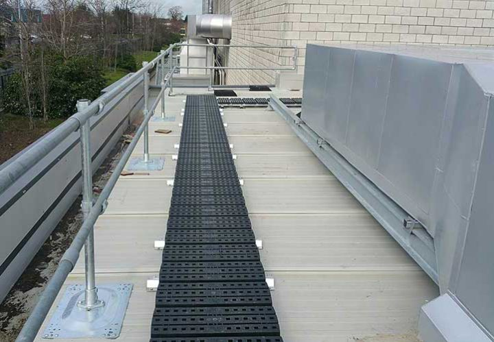 Roof Walkway With Edge Protection