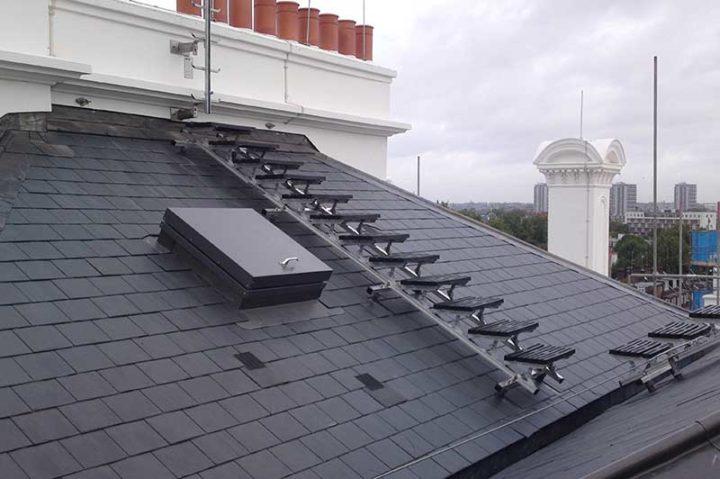 Sloped Rooftop Walkway