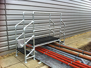 Access platforms over pipework