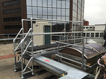 Safety on congested roofs