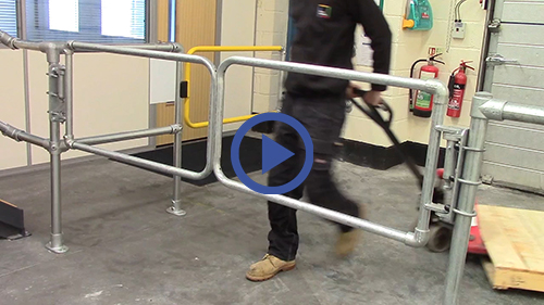 Double self closing safety gates