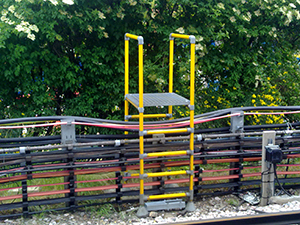 Cable stiles for safe access over railway cabling