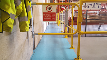 Protecting pedestrians in warehouses
