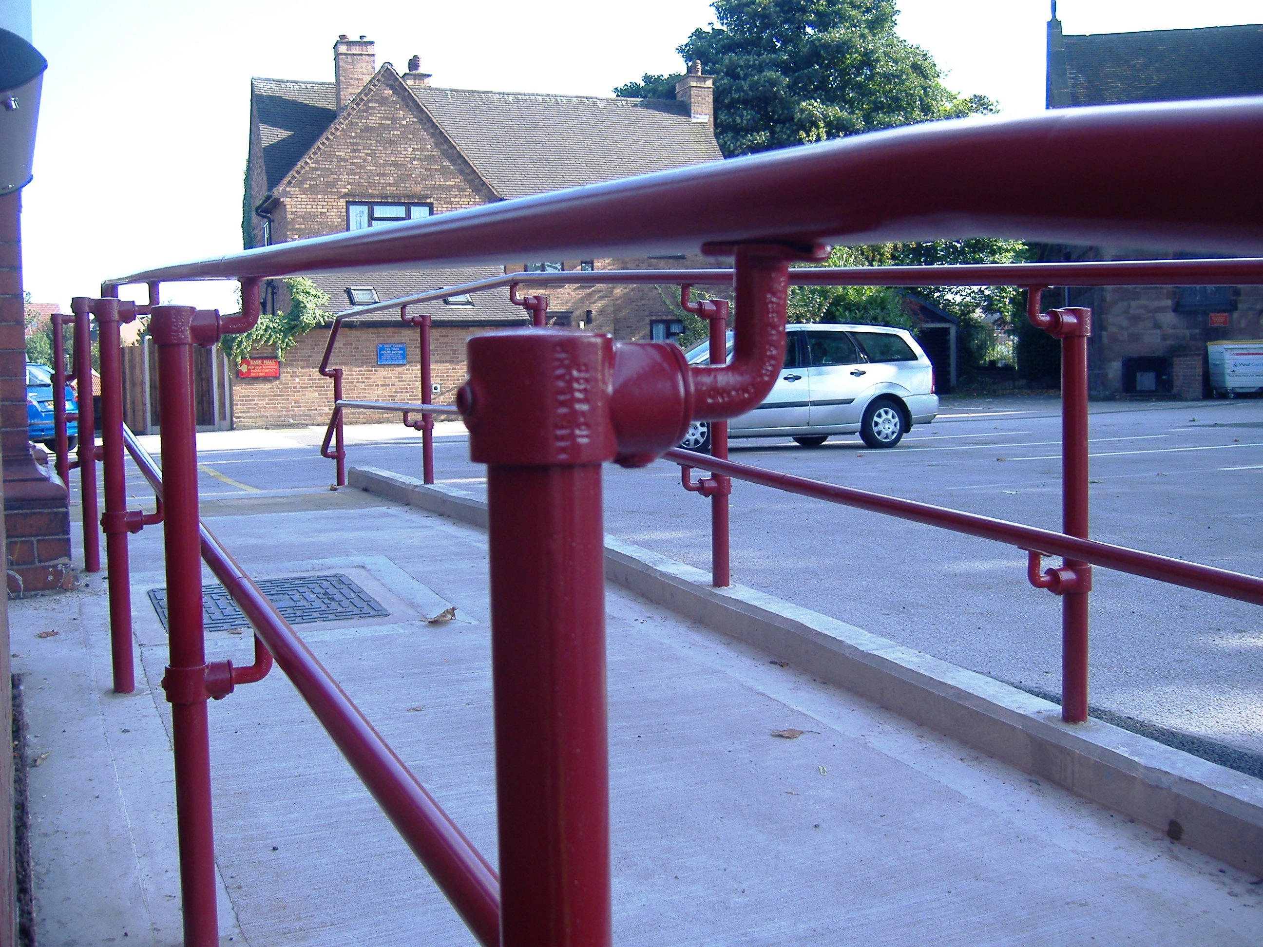 Powder coated Kee Access handrail