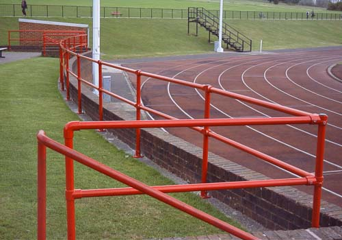 Kee Klamp fittings at athletics track