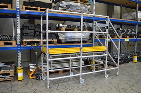 Mobile work platforms for warehouses