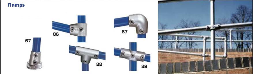 Ramp design using fittings