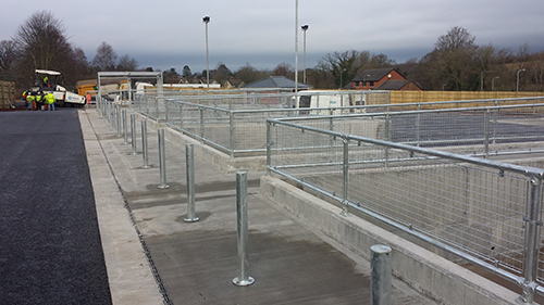 Safety barriers for recycling centres