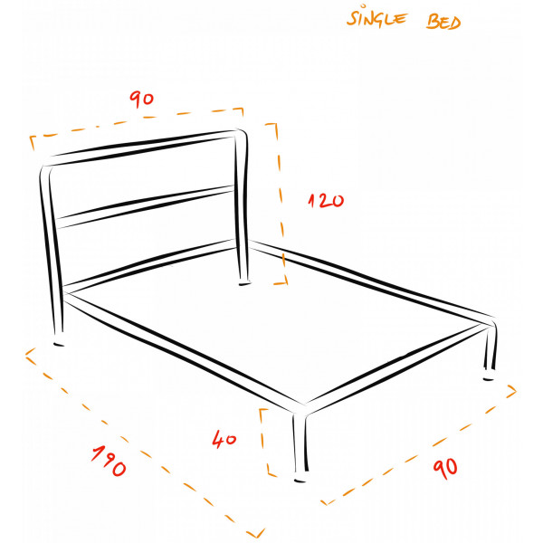 Barbican Industrial Bed Frame Kit - Single