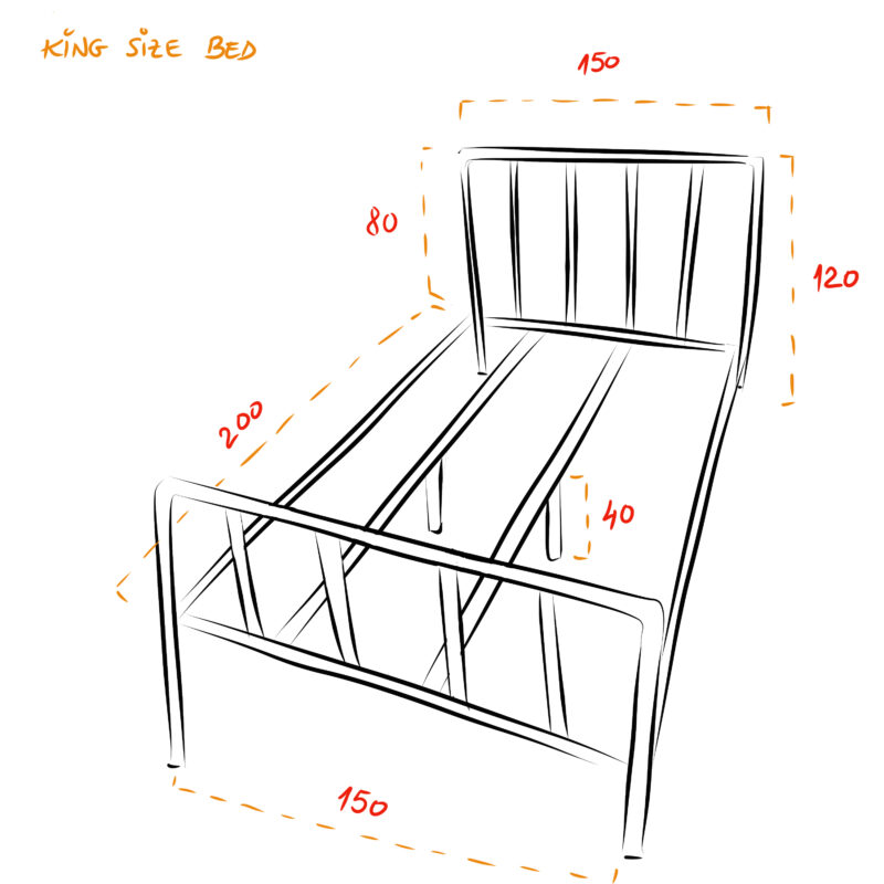 King Size Scaffold Bed
