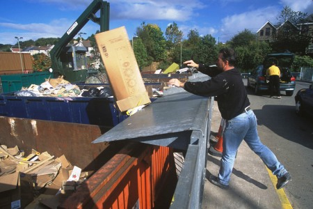 Falls from height in recycling centres