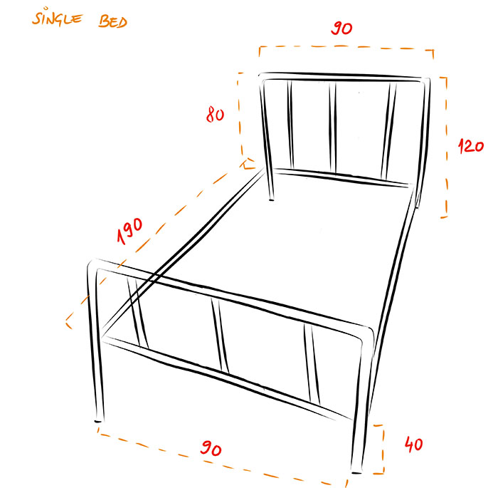 Single Bed dimensions